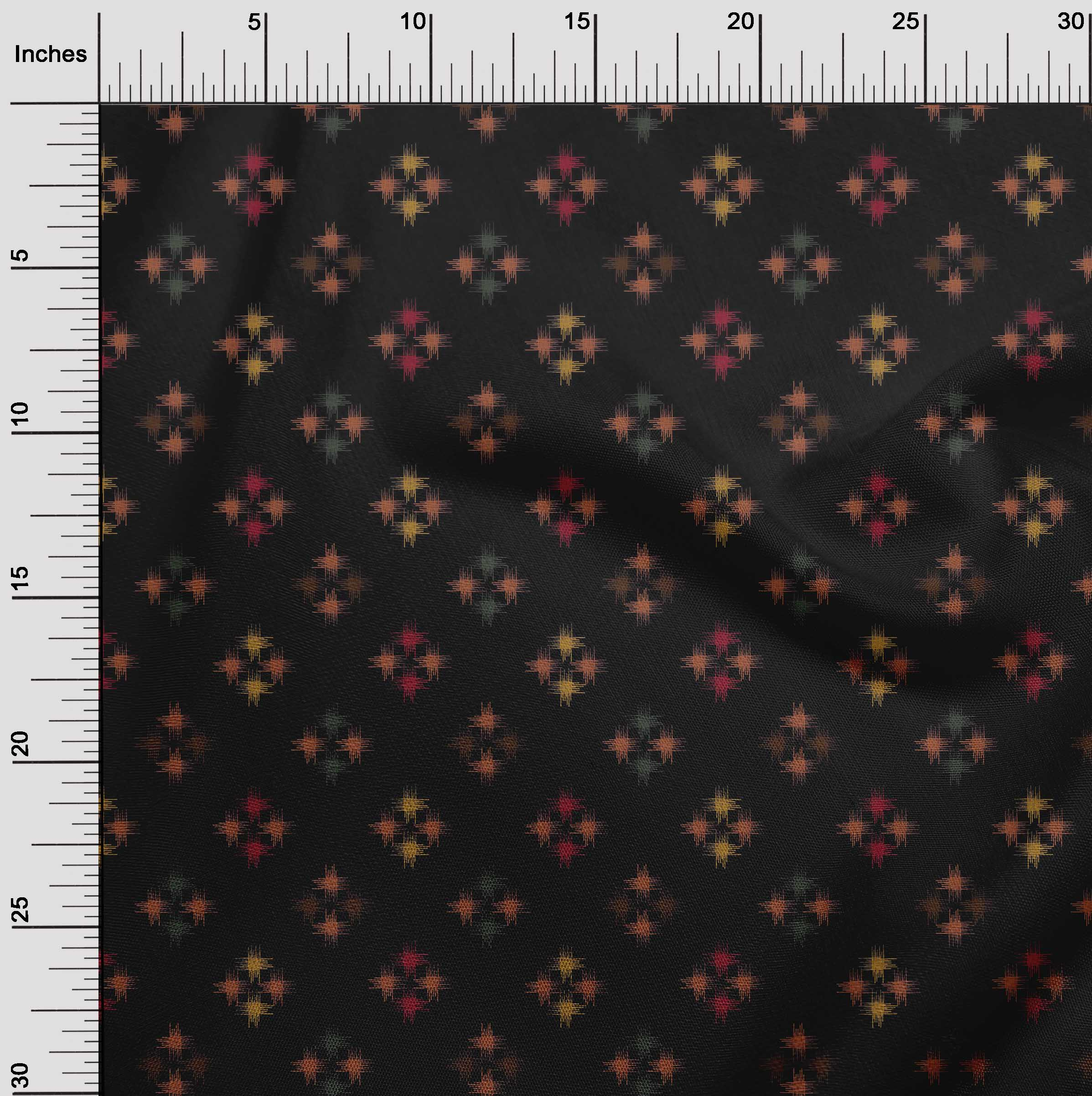 oneOone-geometrische-Linie-Ikat-Printed-Craft-Fabric-By-The-Meter-IK-1168A-5 Indexbild 3