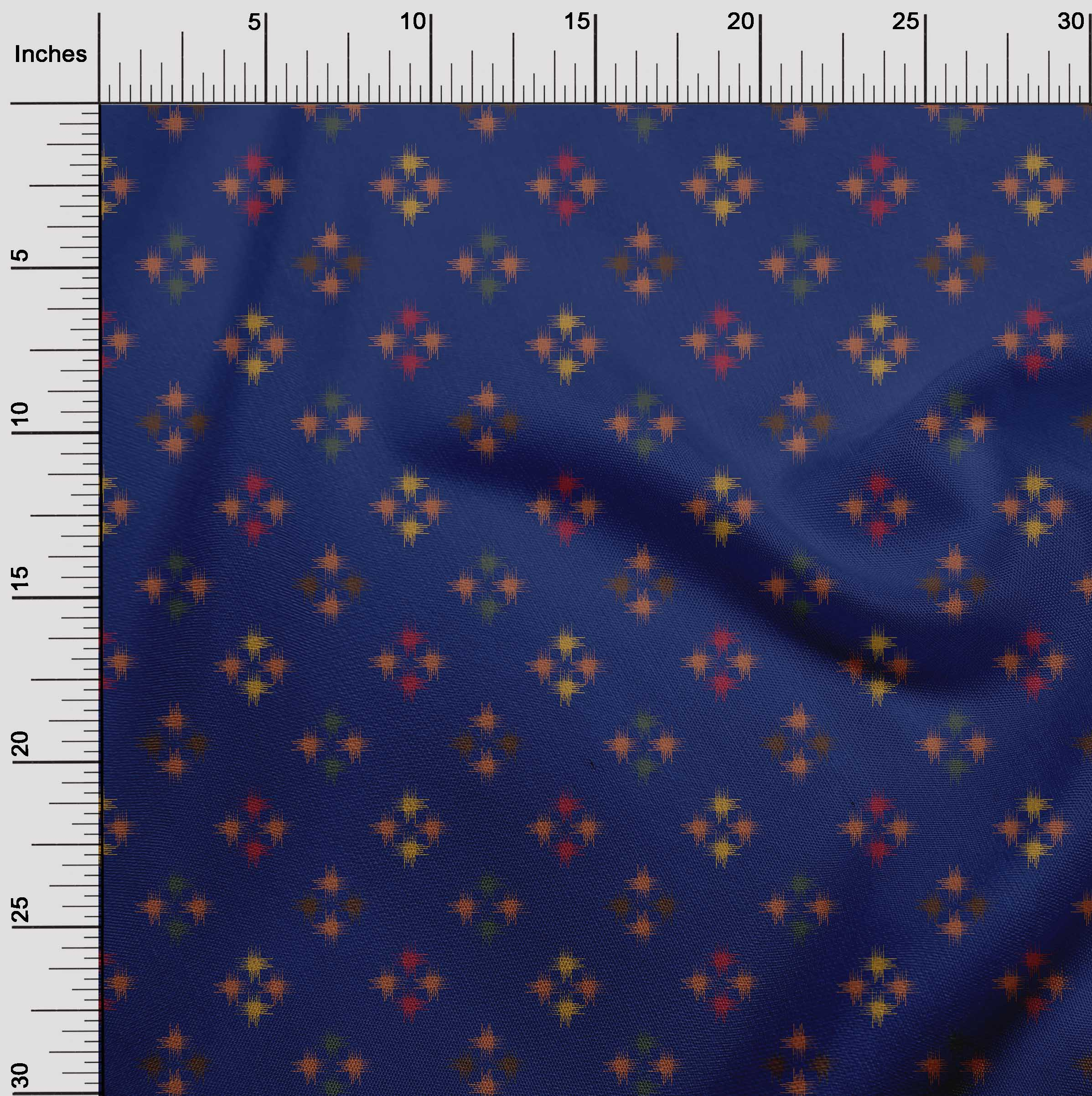 oneOone-geometrische-Linie-Ikat-Printed-Craft-Fabric-By-The-Meter-IK-1168A-5 Indexbild 6