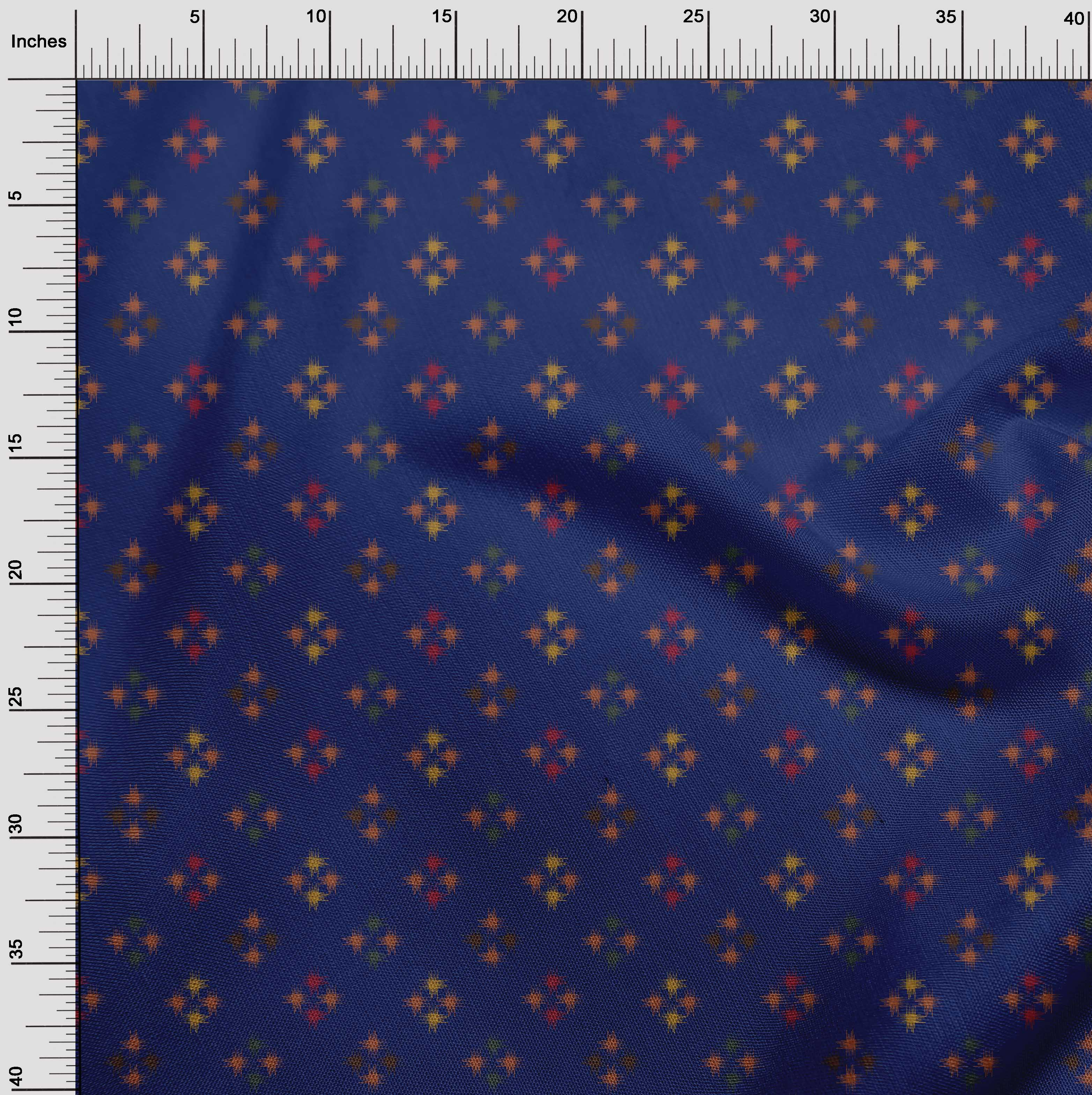 oneOone-geometrische-Linie-Ikat-Printed-Craft-Fabric-By-The-Meter-IK-1168A-5 Indexbild 7