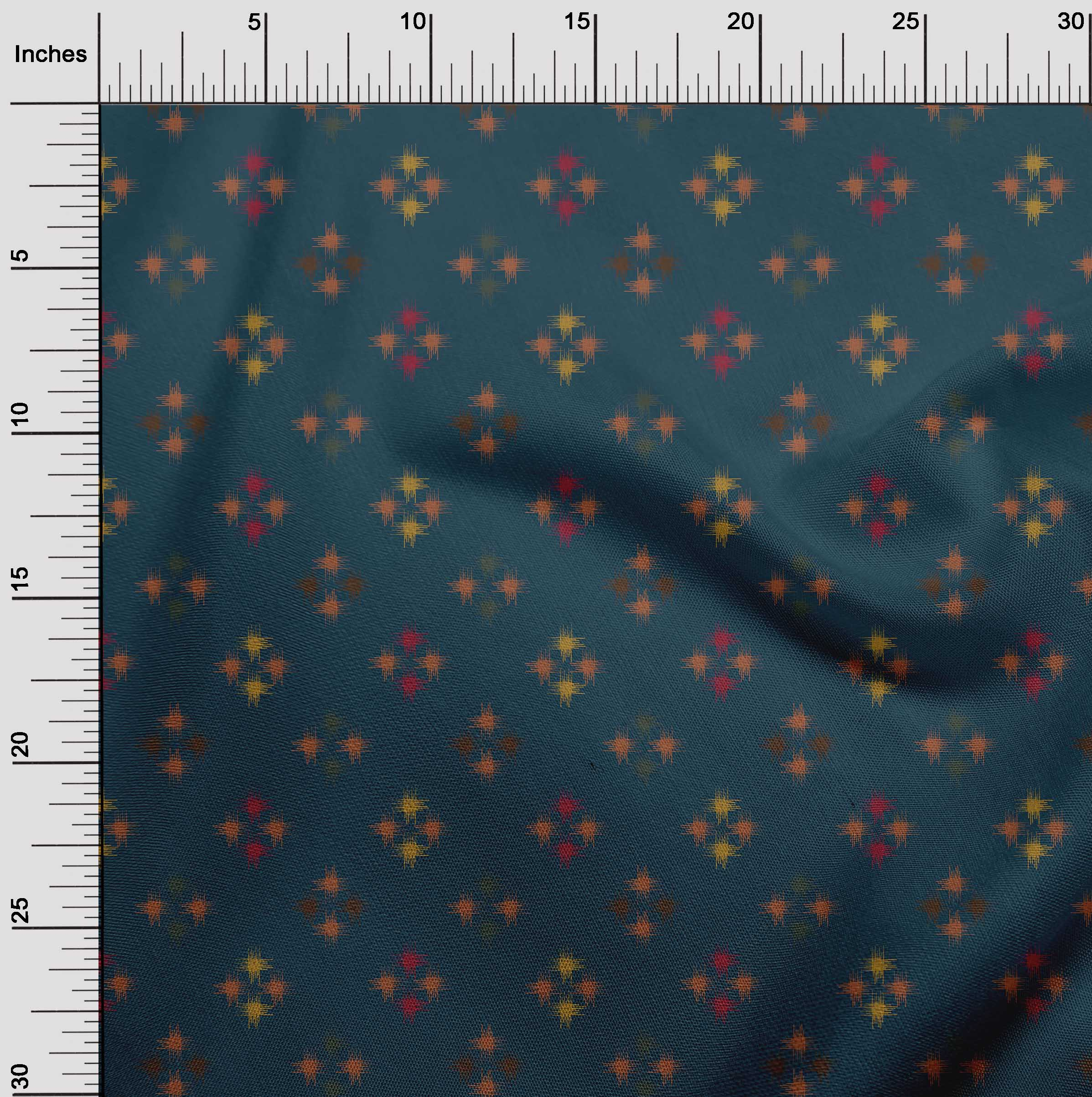 oneOone-geometrische-Linie-Ikat-Printed-Craft-Fabric-By-The-Meter-IK-1168A-5 Indexbild 9