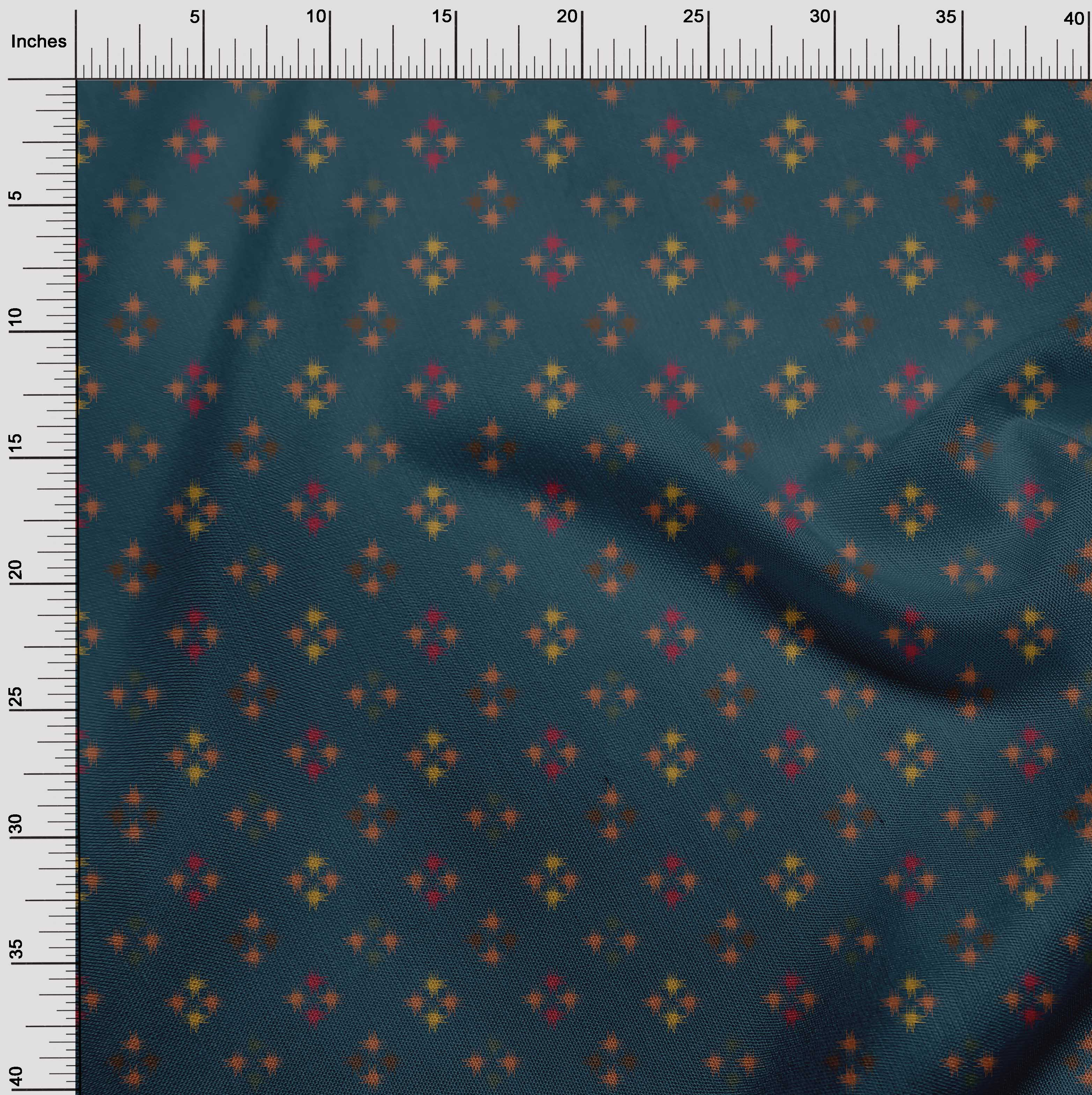 oneOone-geometrische-Linie-Ikat-Printed-Craft-Fabric-By-The-Meter-IK-1168A-5 Indexbild 10