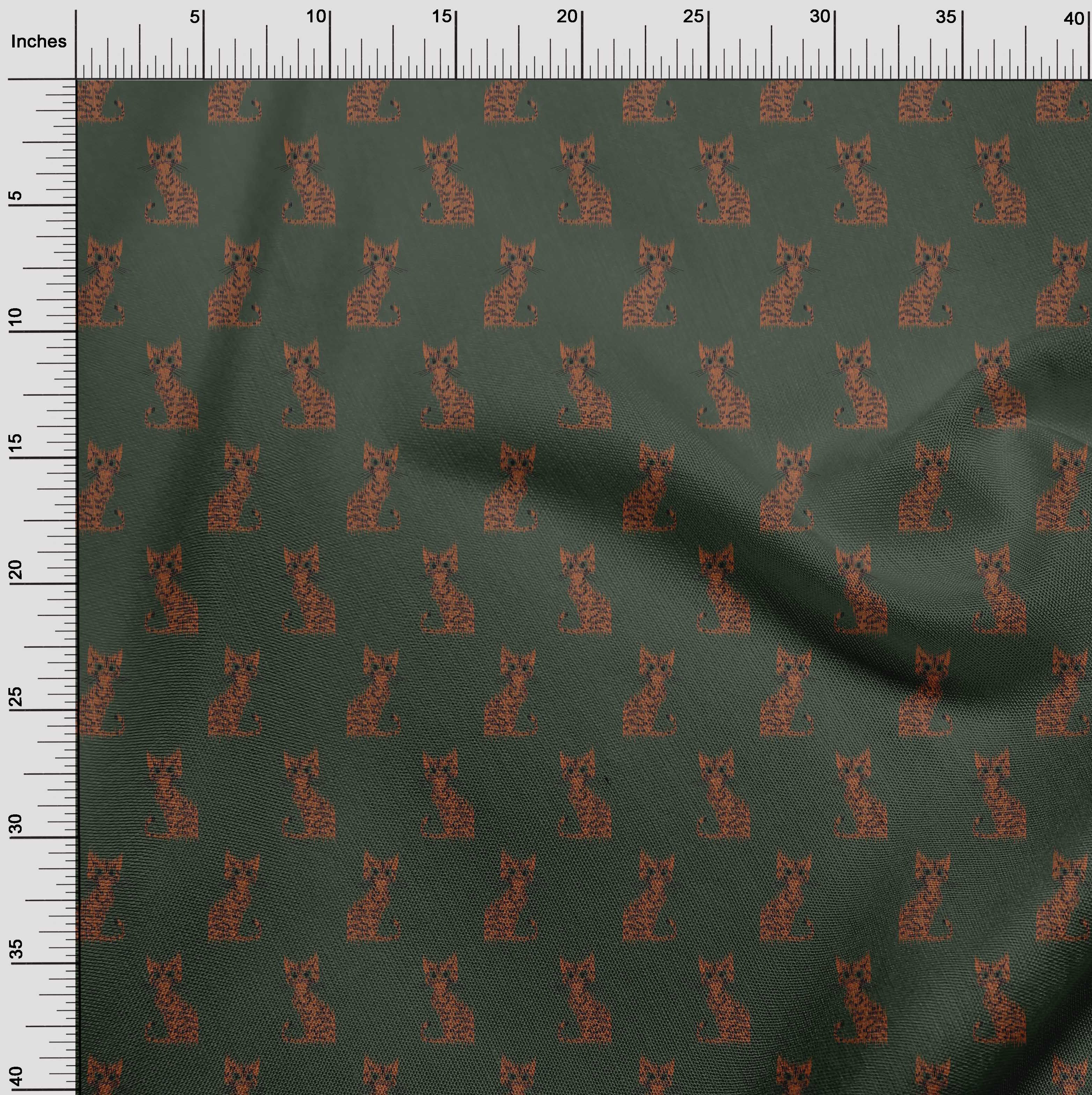 oneOone-Katze-Ikat-Printed-Craft-Fabric-By-The-Meter-IK-1203A-1 Indexbild 13
