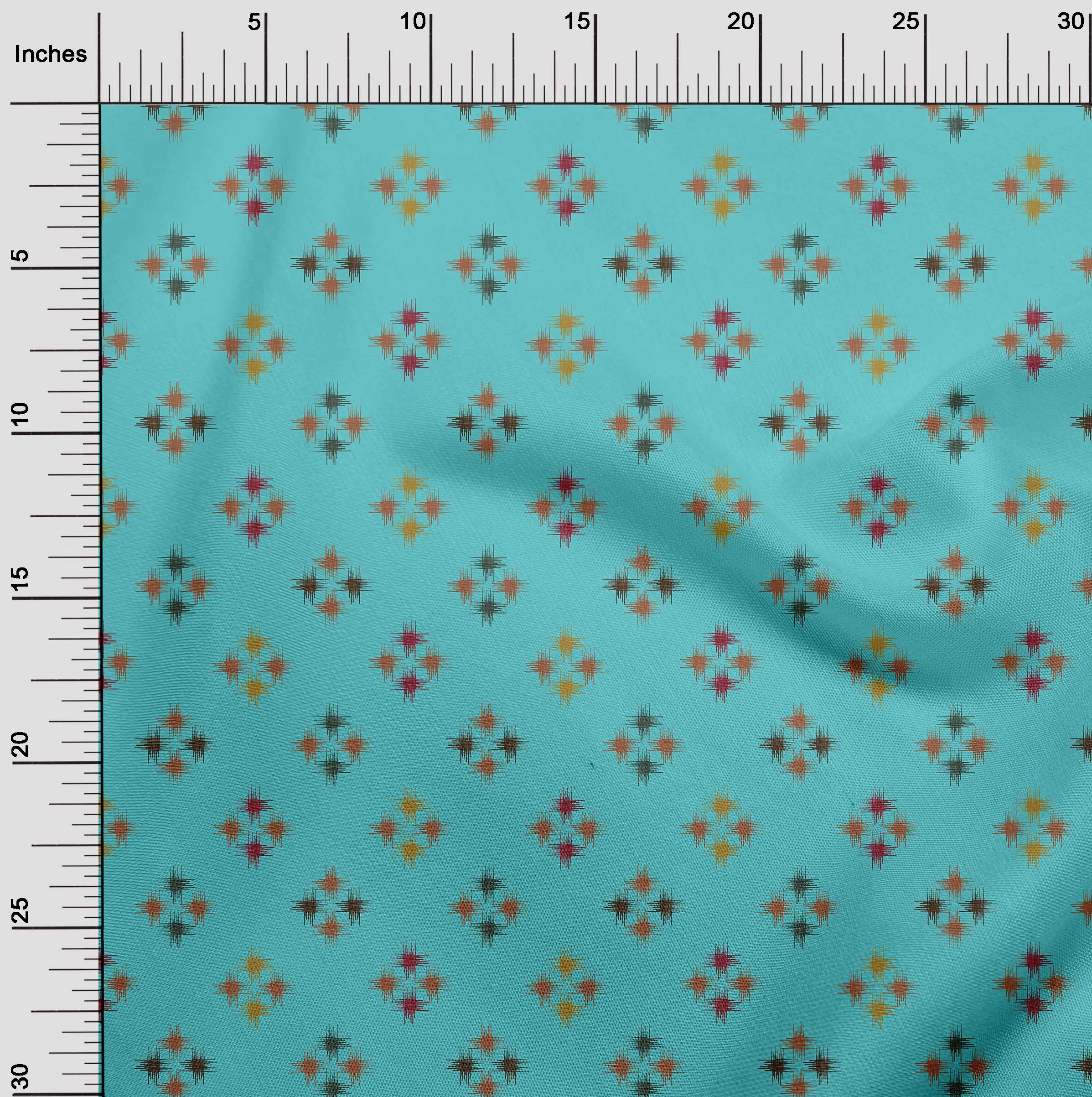 oneOone-geometrische-Linie-Ikat-Printed-Craft-Fabric-By-The-Meter-IK-1168A-5 Indexbild 12
