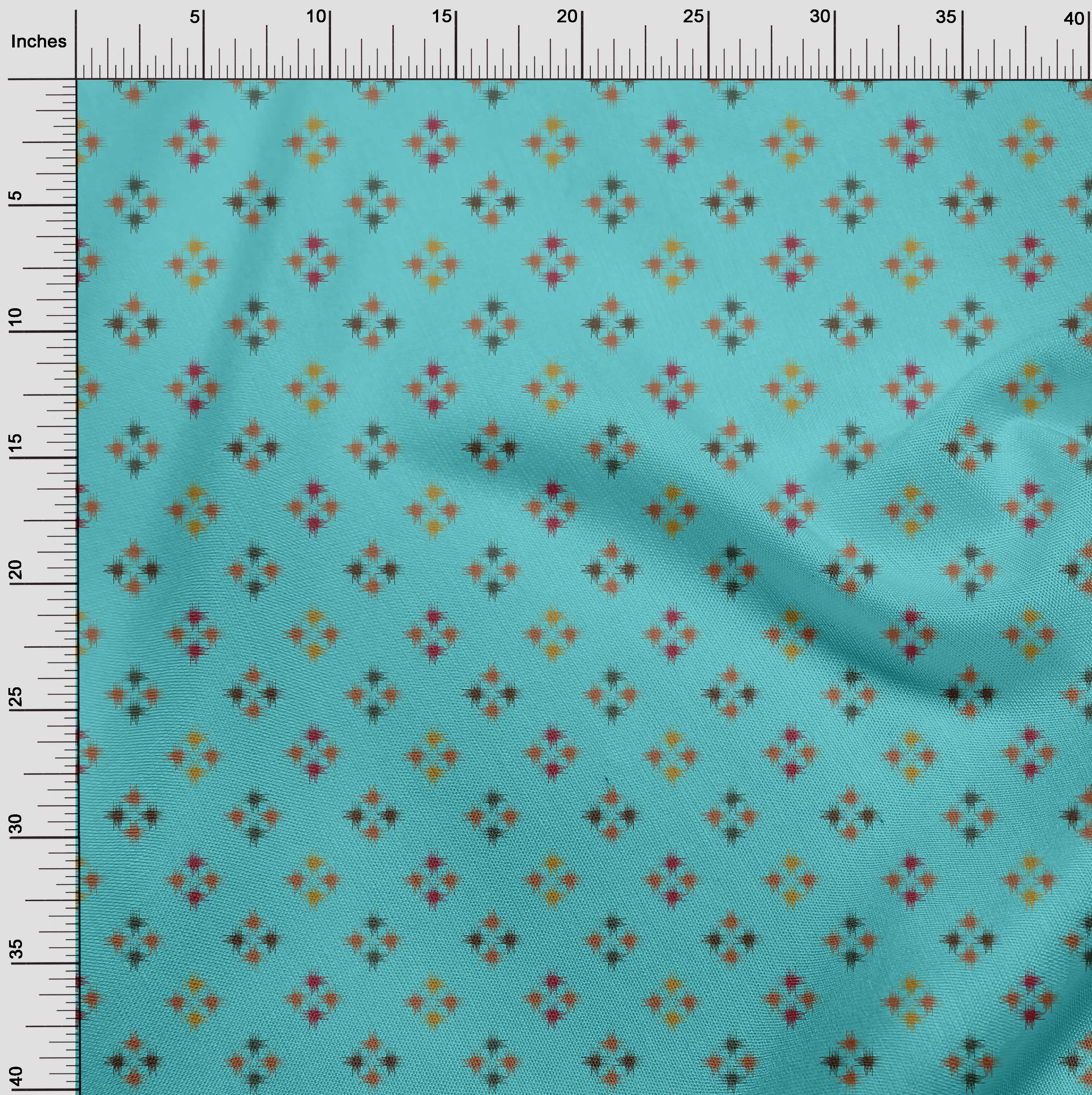 oneOone-geometrische-Linie-Ikat-Printed-Craft-Fabric-By-The-Meter-IK-1168A-5 Indexbild 13