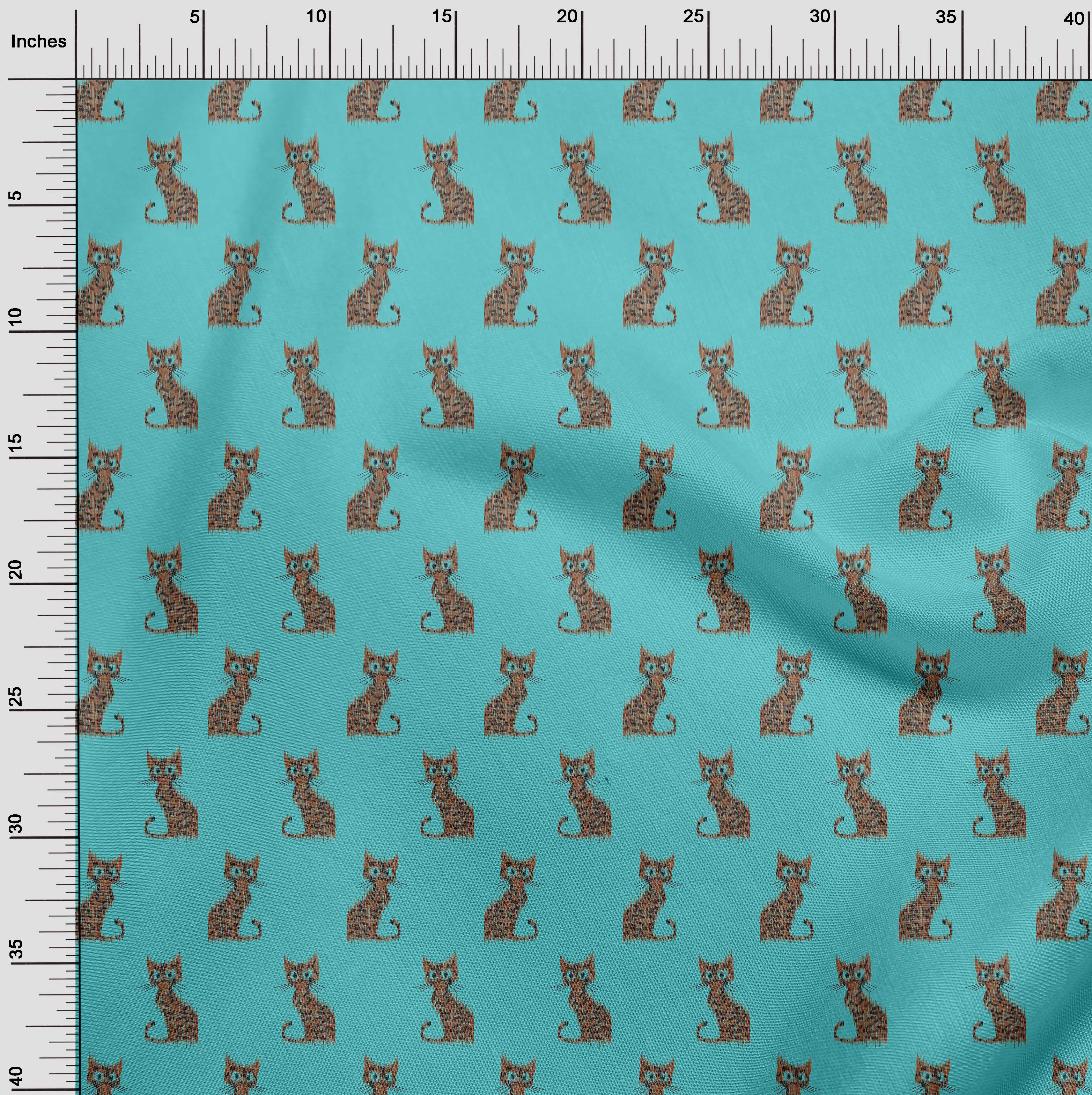 oneOone-Katze-Ikat-Printed-Craft-Fabric-By-The-Meter-IK-1203A-1 Indexbild 22