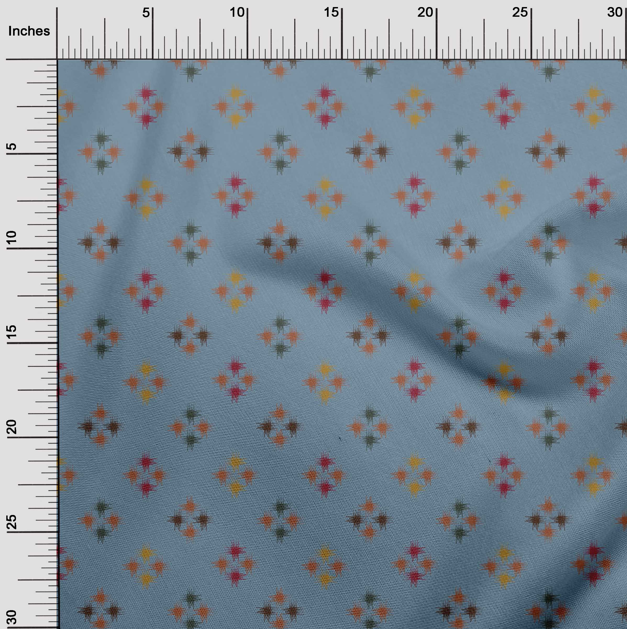 oneOone-geometrische-Linie-Ikat-Printed-Craft-Fabric-By-The-Meter-IK-1168A-5 Indexbild 15
