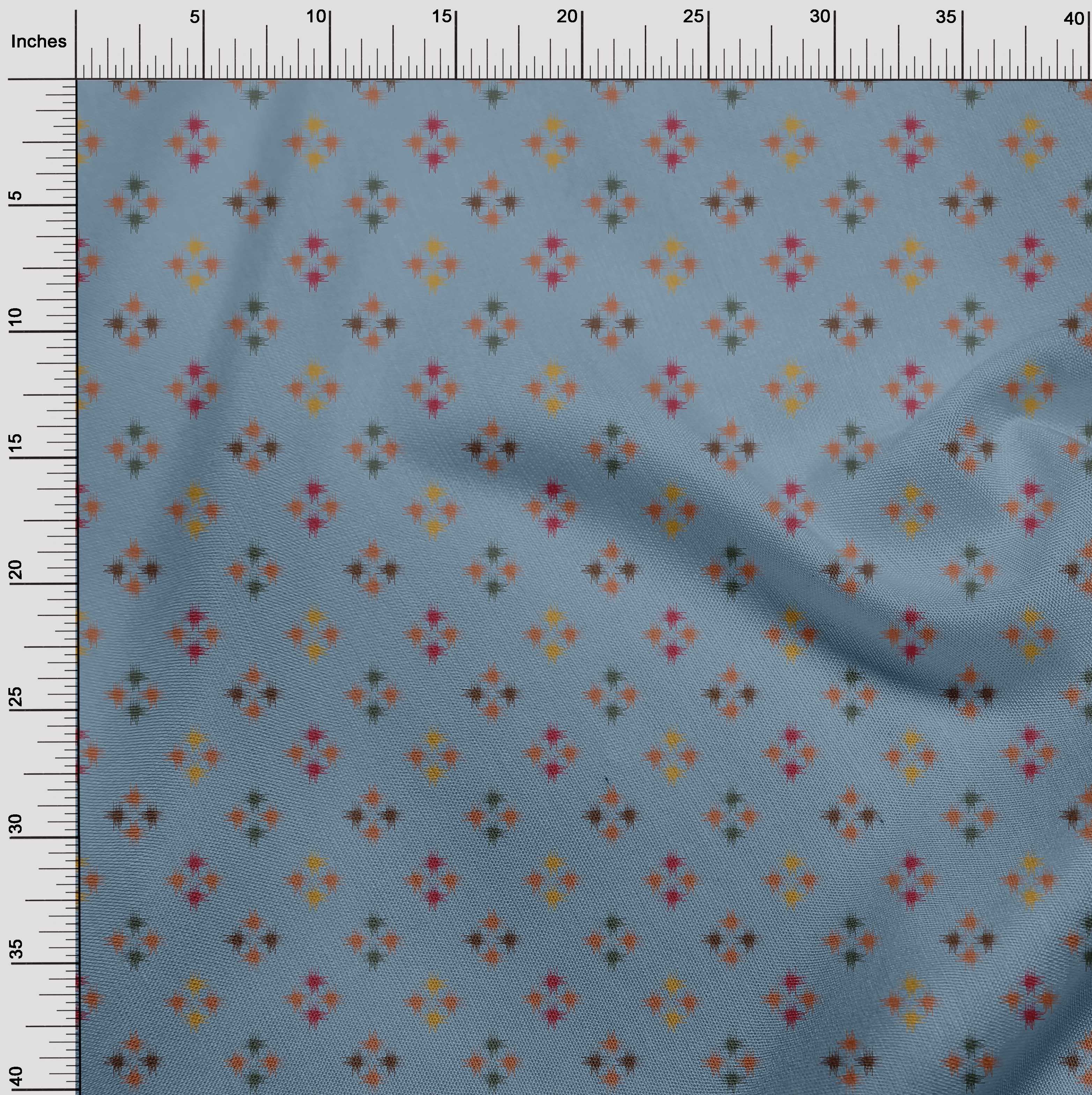 oneOone-geometrische-Linie-Ikat-Printed-Craft-Fabric-By-The-Meter-IK-1168A-5 Indexbild 16