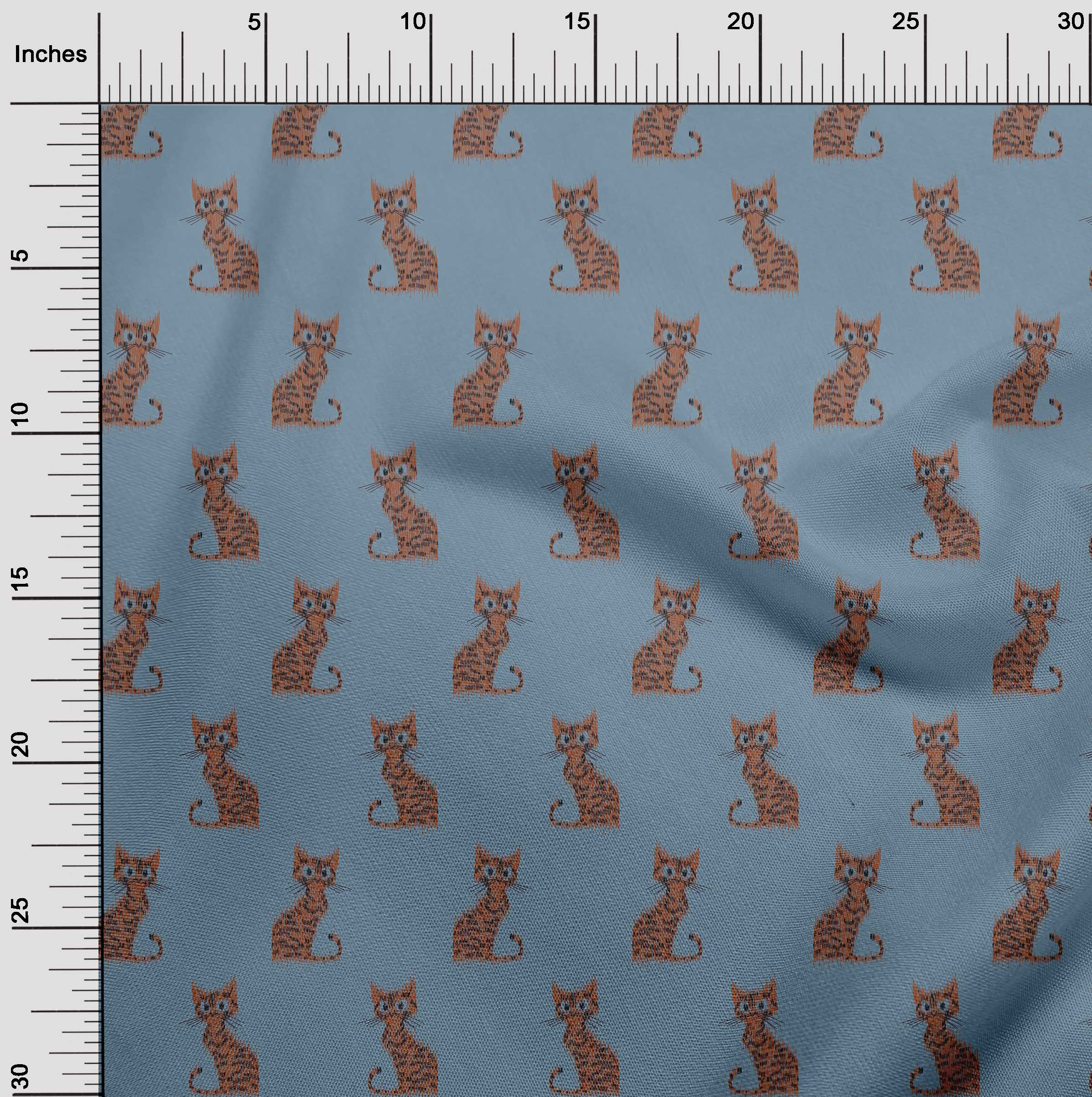 oneOone-Katze-Ikat-Printed-Craft-Fabric-By-The-Meter-IK-1203A-1 Indexbild 24