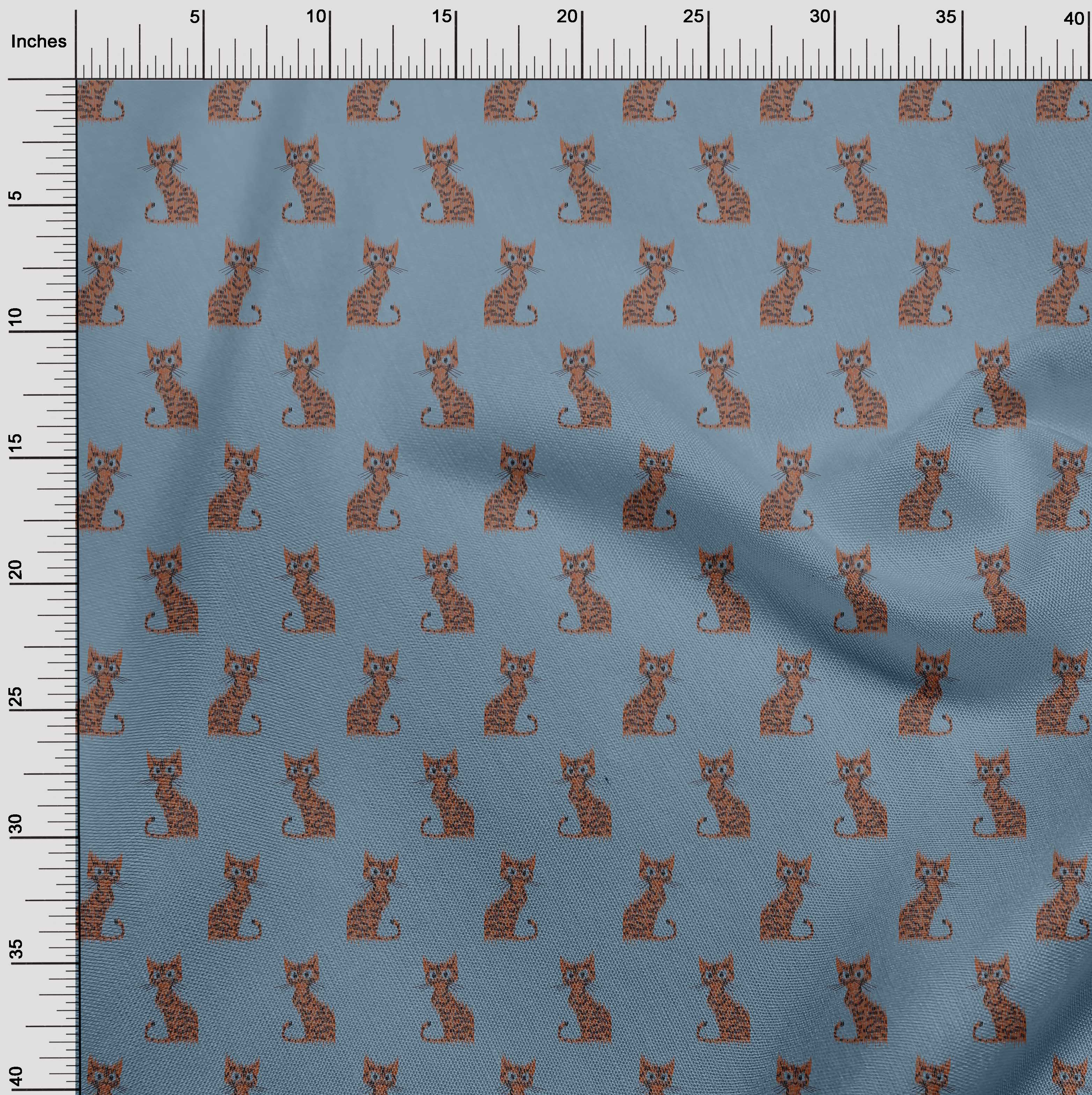 oneOone-Katze-Ikat-Printed-Craft-Fabric-By-The-Meter-IK-1203A-1 Indexbild 25