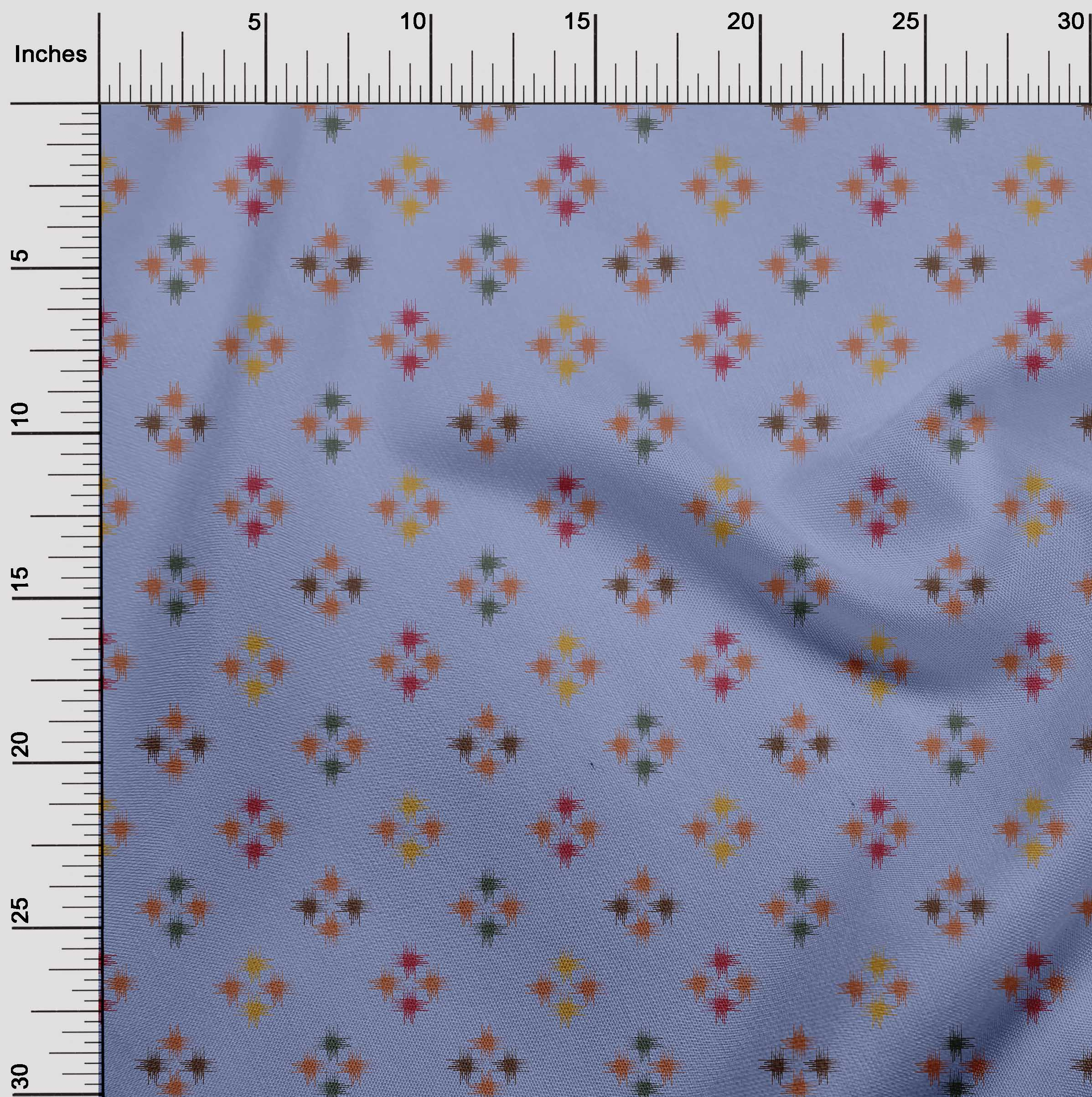 oneOone-geometrische-Linie-Ikat-Printed-Craft-Fabric-By-The-Meter-IK-1168A-5 Indexbild 18