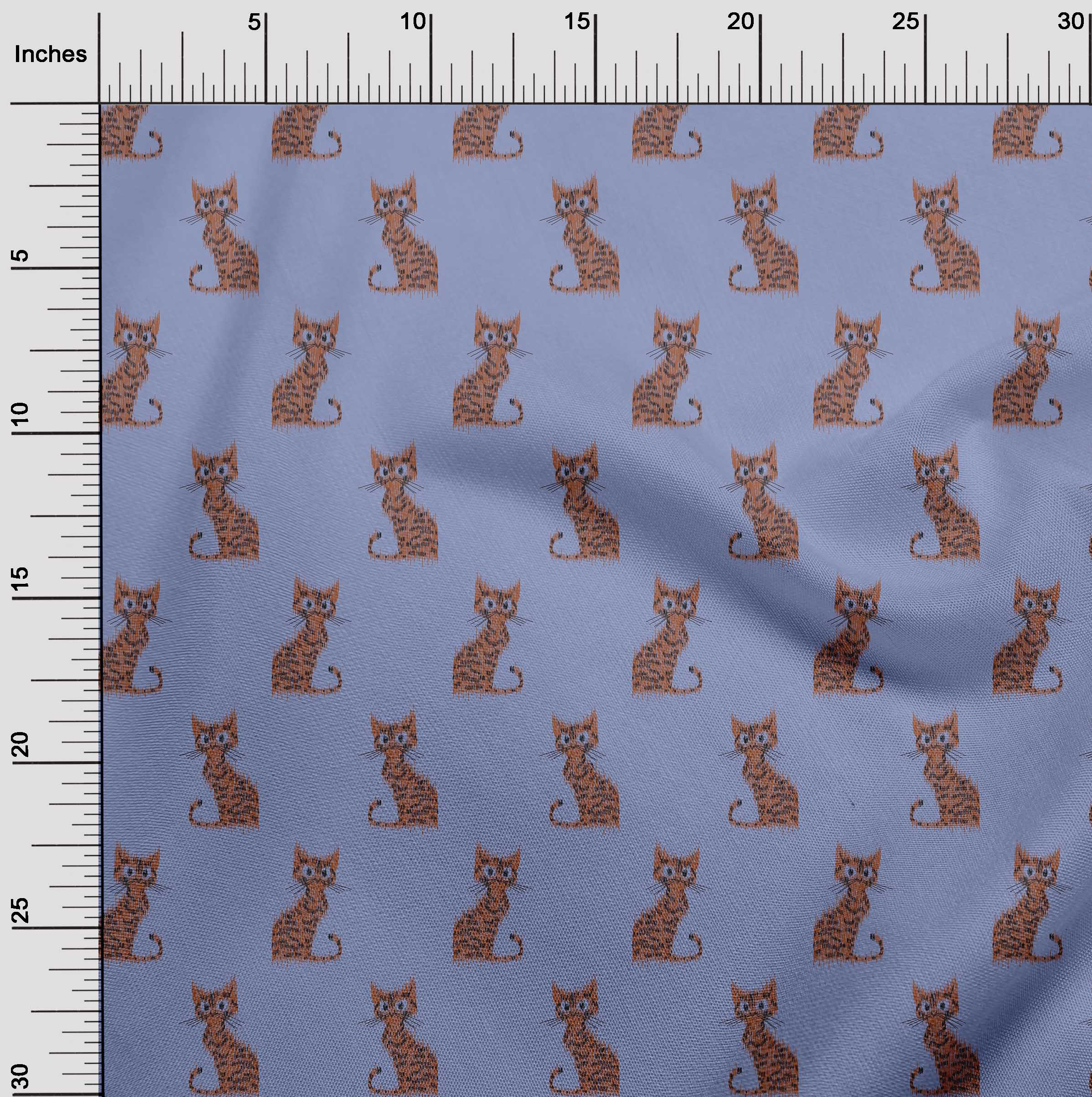 oneOone-Katze-Ikat-Printed-Craft-Fabric-By-The-Meter-IK-1203A-1 Indexbild 27