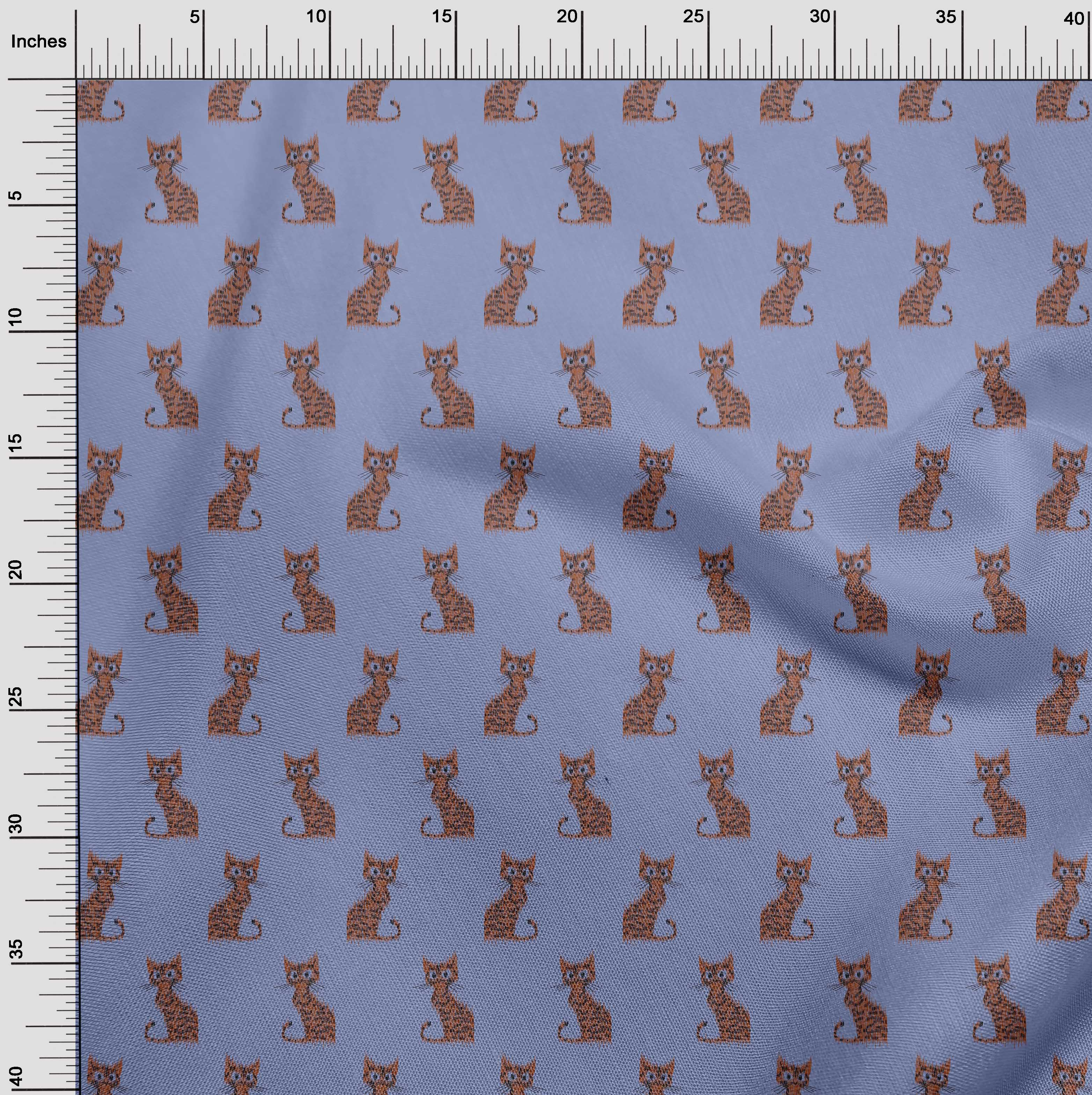 oneOone-Katze-Ikat-Printed-Craft-Fabric-By-The-Meter-IK-1203A-1 Indexbild 28