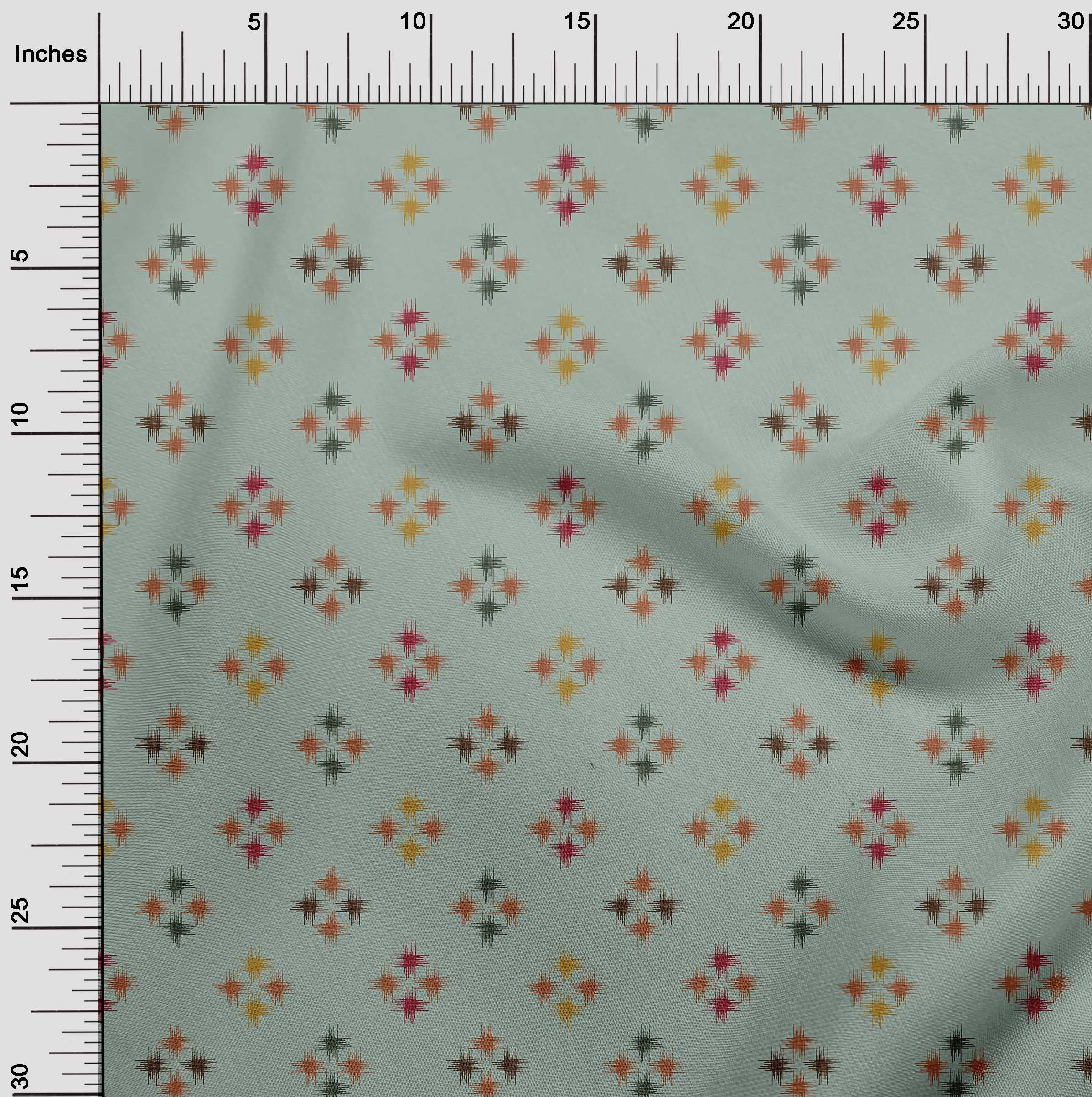 oneOone-geometrische-Linie-Ikat-Printed-Craft-Fabric-By-The-Meter-IK-1168A-5 Indexbild 21