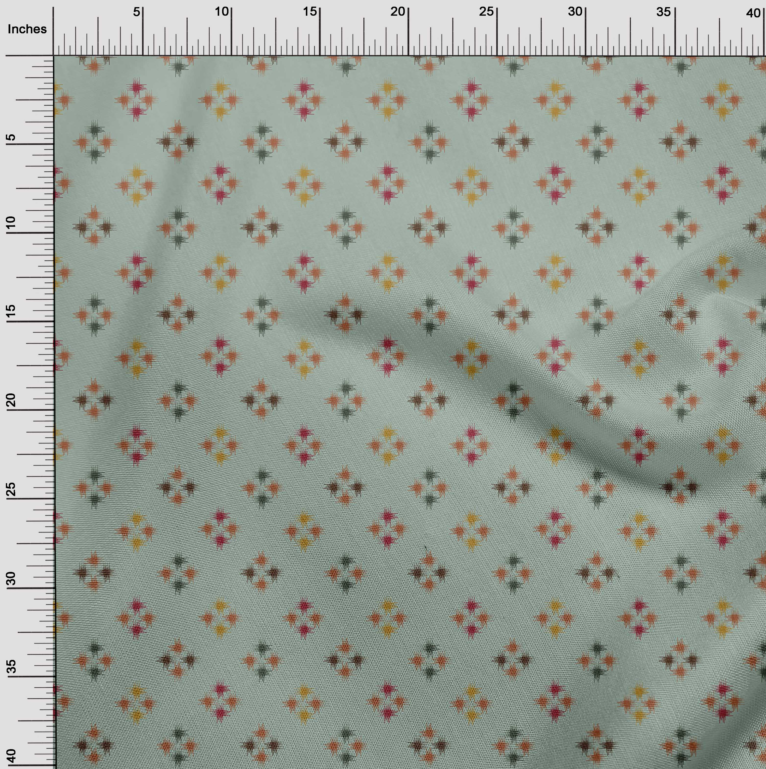 oneOone-geometrische-Linie-Ikat-Printed-Craft-Fabric-By-The-Meter-IK-1168A-5 Indexbild 22
