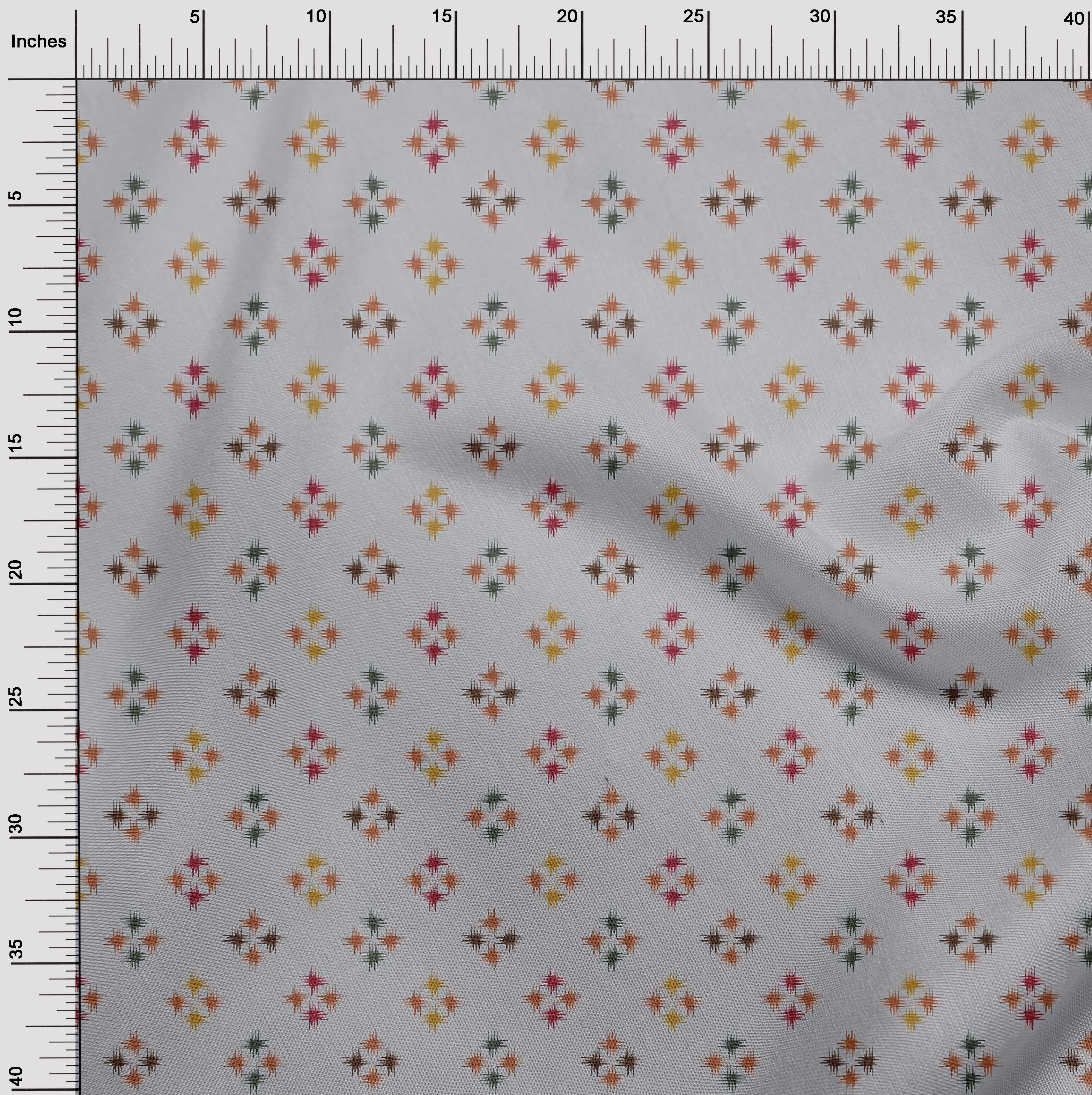 oneOone-geometrische-Linie-Ikat-Printed-Craft-Fabric-By-The-Meter-IK-1168A-5 Indexbild 25
