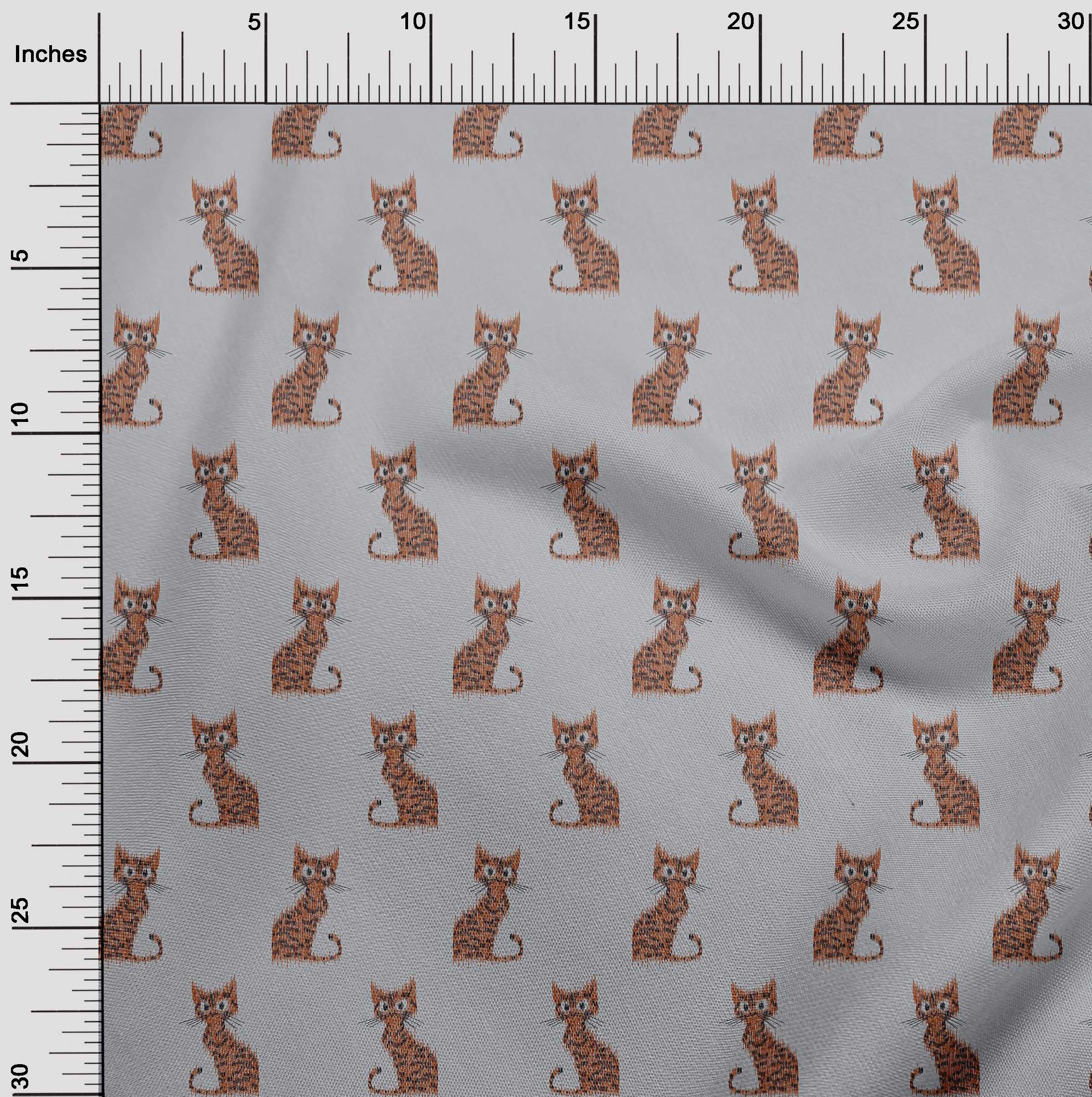 oneOone-Katze-Ikat-Printed-Craft-Fabric-By-The-Meter-IK-1203A-1 Indexbild 30
