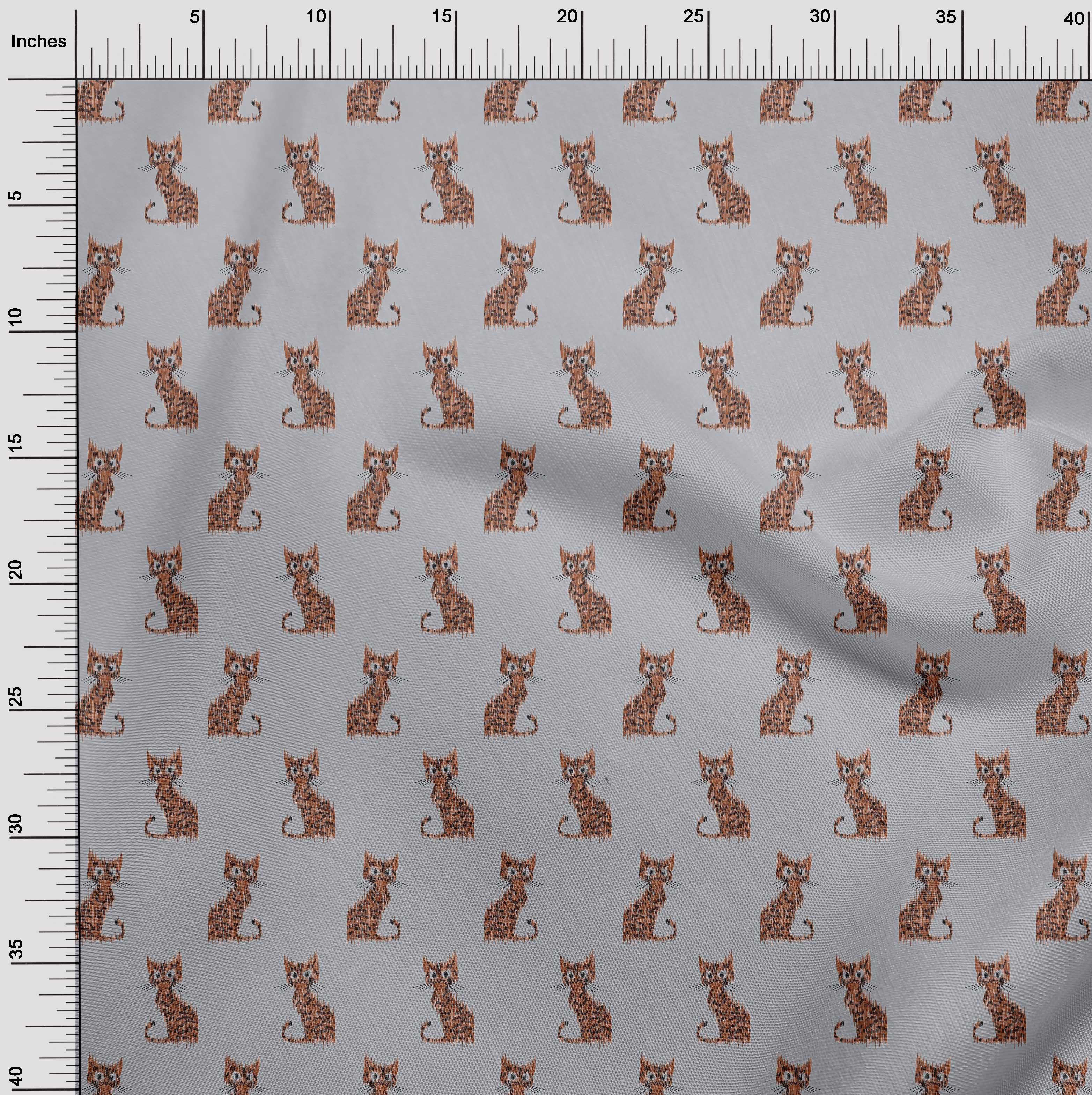 oneOone-Katze-Ikat-Printed-Craft-Fabric-By-The-Meter-IK-1203A-1 Indexbild 31
