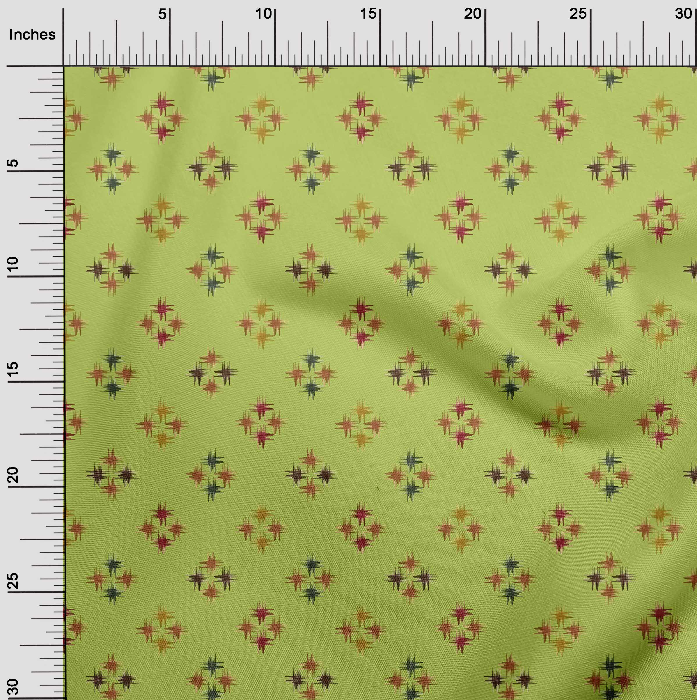oneOone-geometrische-Linie-Ikat-Printed-Craft-Fabric-By-The-Meter-IK-1168A-5 Indexbild 27