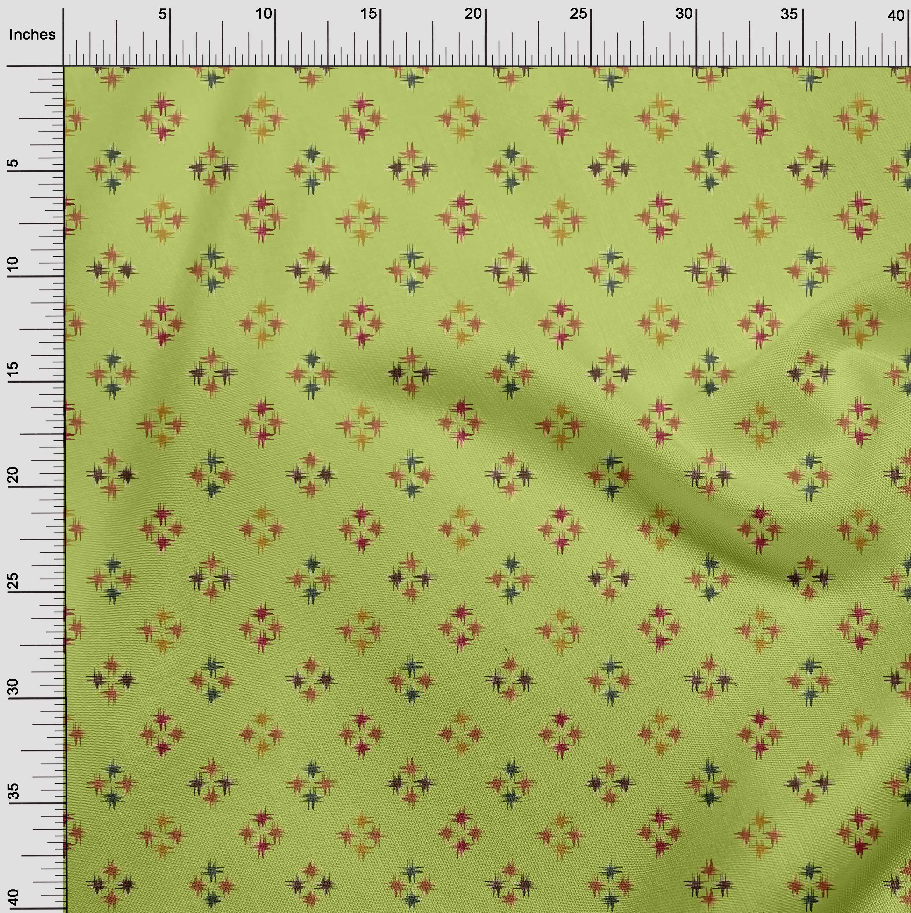 oneOone-geometrische-Linie-Ikat-Printed-Craft-Fabric-By-The-Meter-IK-1168A-5 Indexbild 28