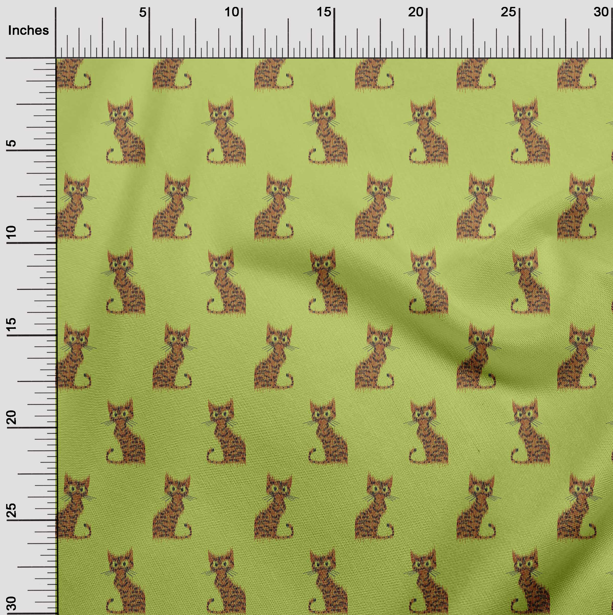 oneOone-Katze-Ikat-Printed-Craft-Fabric-By-The-Meter-IK-1203A-1 Indexbild 33