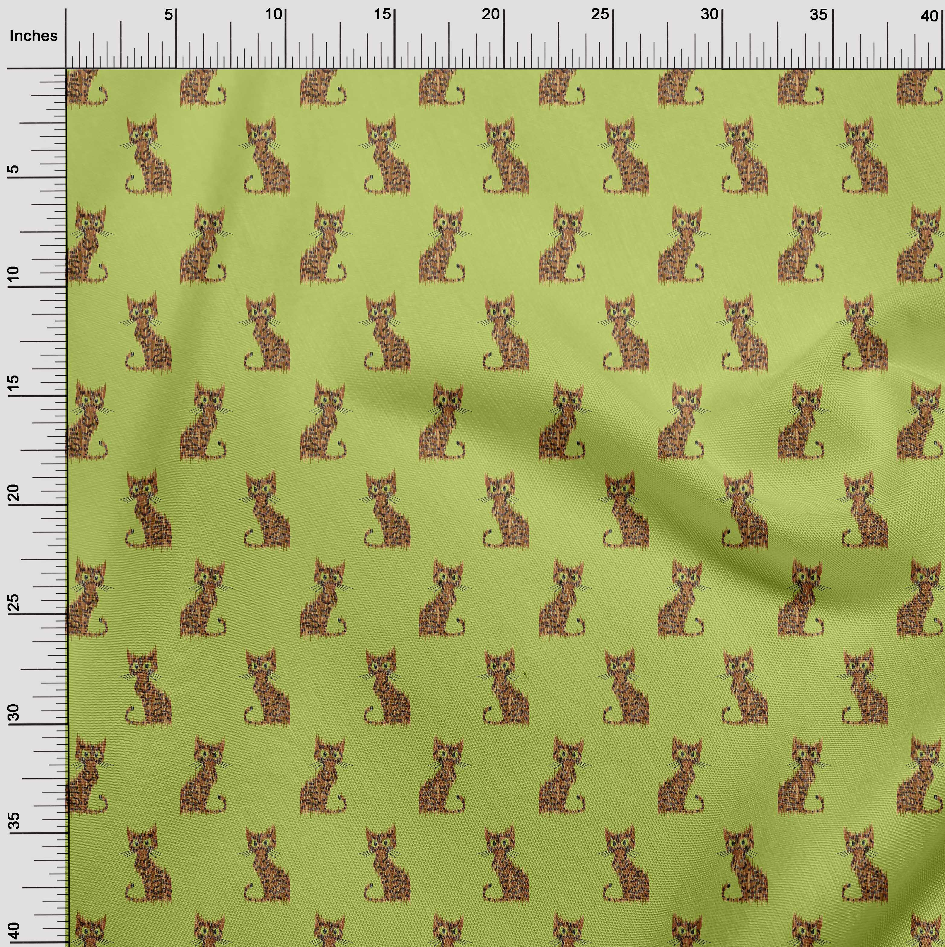 oneOone-Katze-Ikat-Printed-Craft-Fabric-By-The-Meter-IK-1203A-1 Indexbild 34