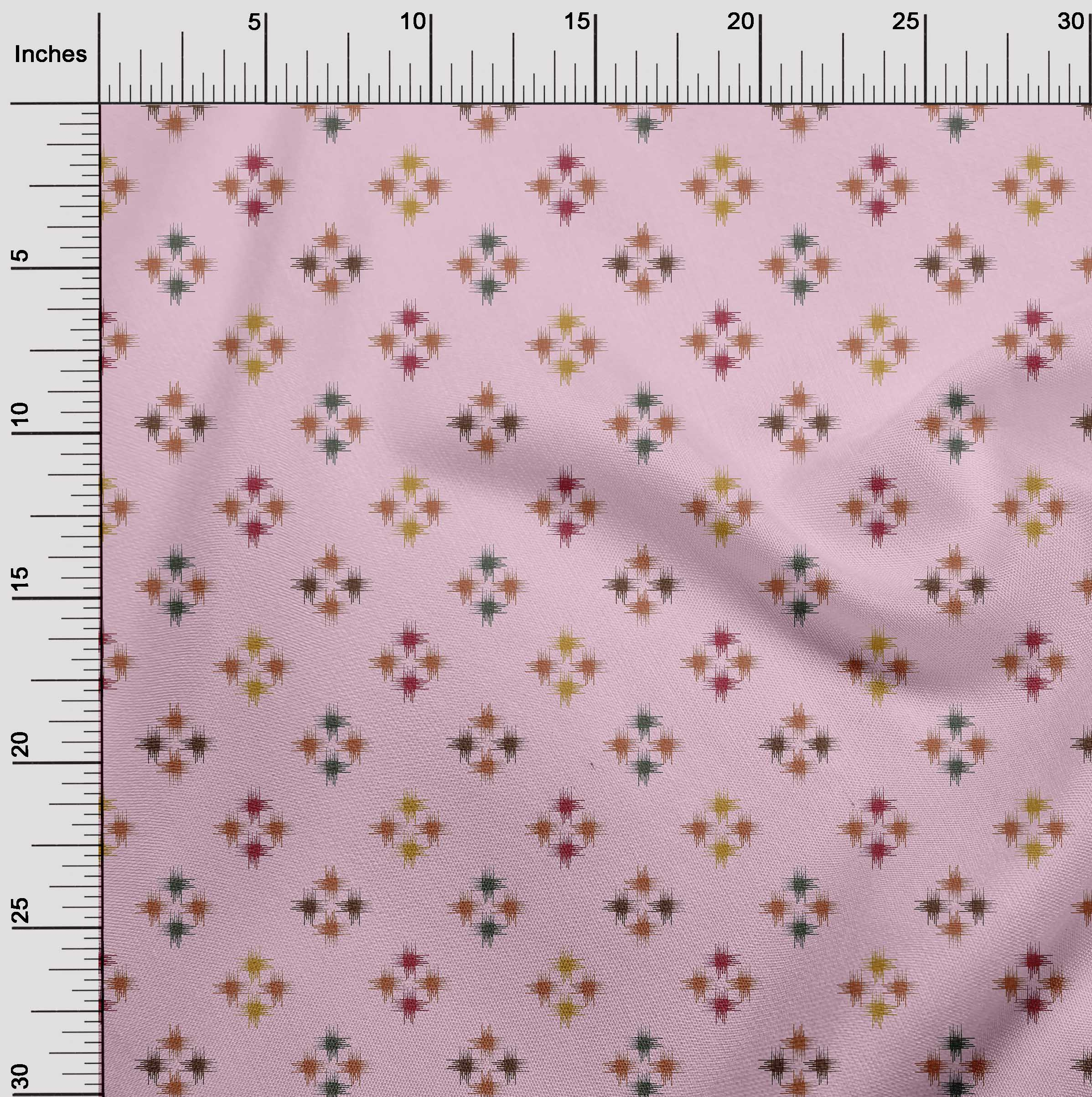 oneOone-geometrische-Linie-Ikat-Printed-Craft-Fabric-By-The-Meter-IK-1168A-5 Indexbild 30